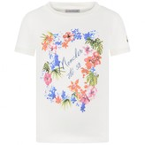 Moncler MonclerGirls Ivory Floral Print Top