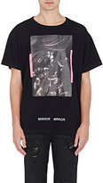 Off-White Men's Mixed-Print Cotton T-Shirt-BLACK