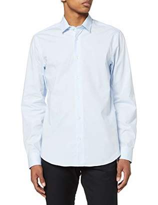 Scotch & Soda Men's Nos Cotton Elastane Shirt Relaxed Fit Classic Collar Casual,Large