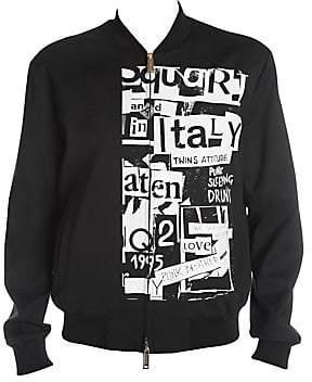 DSQUARED2 Men's Punk Print Wool-Blend Bomber Jacket