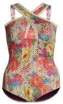 Plus Size Women's Becca Etc. English Garden One-Piece Swimsuit