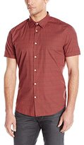 John Varvatos Men's Short Sleeve Slim Fit Button Down Shirt