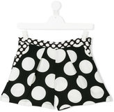 MSGM polka dot print shorts - kids - Polyester - 14 yrs