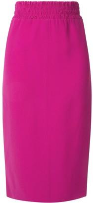 No.21 rear panel pencil skirt