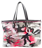Christian Dior Large Anselm Reyle Camouflage Tote