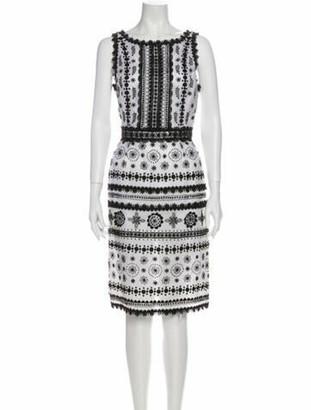Oscar de la Renta 2007 Knee-Length Dress White