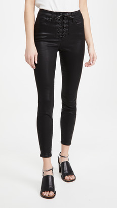 Good American Good Waist Lace Up Jeans