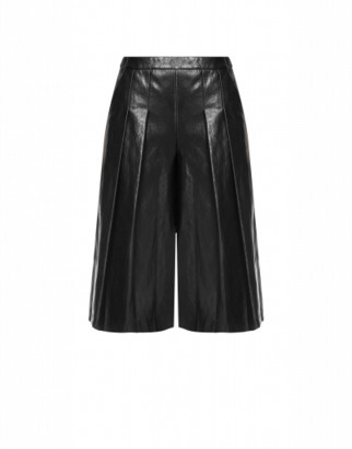 Boutique Moschino Gaucho Pants In Faux Leather