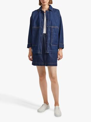 French Connection Julie Denim Utility Jacket, Rinse Blue