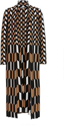 Oscar de la Renta Printed Knitted Coat
