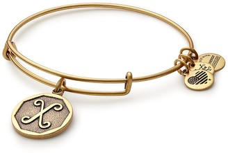 Alex and Ani Initial 'X' Adjustable Wire Bangle