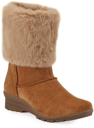 Taryn Rose Evelyn Faux-Fur Mid-Calf Boots