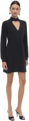 Gucci Tech Jersey Mini Dress W/heart Neckline