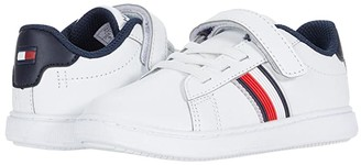 Tommy Hilfiger Iconic Court 2.0 PS (Toddler) (White Smooth) Kid's Shoes