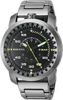 Diesel Men's 'Rig' Quartz Stainless Steel Automatic Watch, Color:Grey (Model: DZ1751)