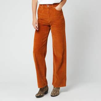 Levi's Women's Ribcage Wide Leg Jeans - Caramel Cafe Plush Cord - W26/L32