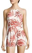 Finders Keepers Sail Away Foliage-Print Romper