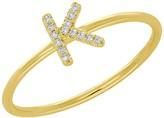 Ron Hami 14K Yellow Gold Diamond Initial Ring - 0.04 ctw