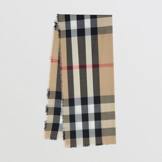 Burberry Lightweight Check Cashmere Scarf