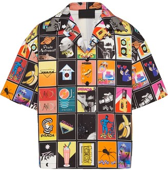 Prada Mega Mix print shirt