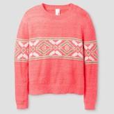 Cat & Jack Girls' Pullover Sweater Cat & Jack - Neon Pink