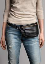Ames Tovern Grain Leather Hip Bag Black