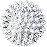 CB2 Spike Ball Silver Ornament
