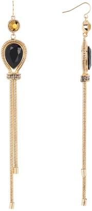 trina Trina Turk Linear Teardrop Chain Fringe Drop Earrings