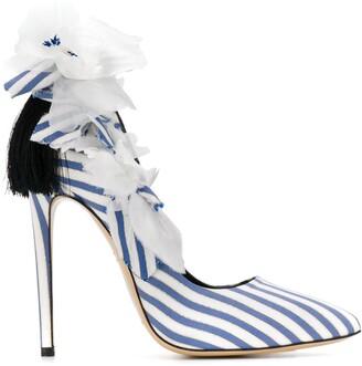 Aleksander Siradekian Fleurs striped sandals