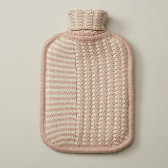 Indigo Flo Stripe Hot Water Bottle Blush