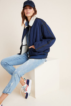 Scotch & Soda Sherpa-Trimmed Denim Jacket By in Blue Size XS