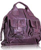 Bulga purple iridescent leather 'Marquis' tote