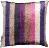 Matthew Williamson Dark Violet & Amethyst Eden Stripe Cushion