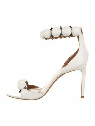 Alaia Leather Studded Accents Sandals w/ Tags White