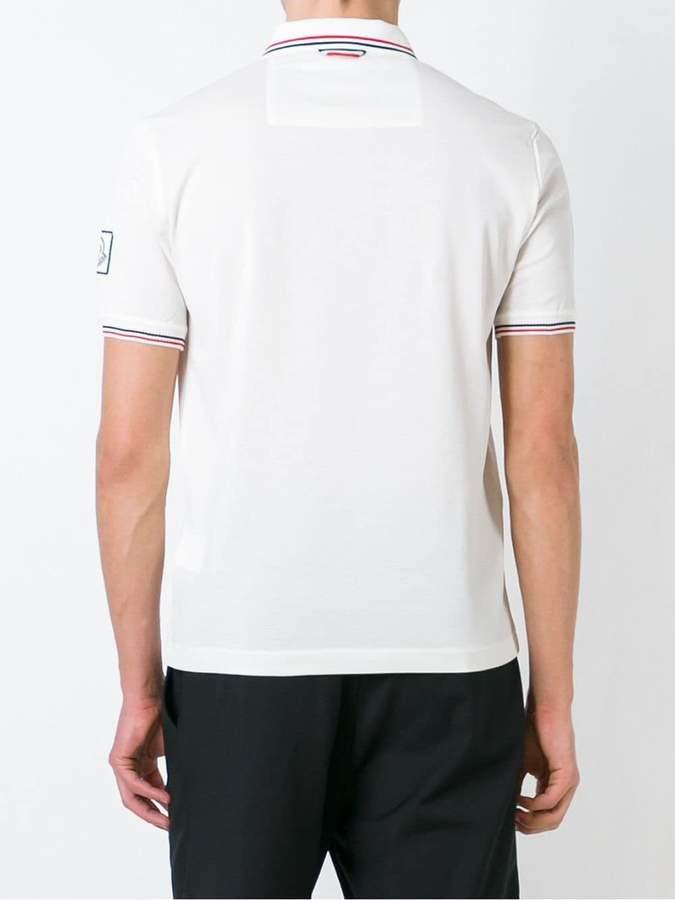 Moncler Gamme Bleu striped trim polo shirt