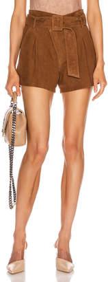 Marissa Webb Levi Suede Shorts in Cognac | FWRD