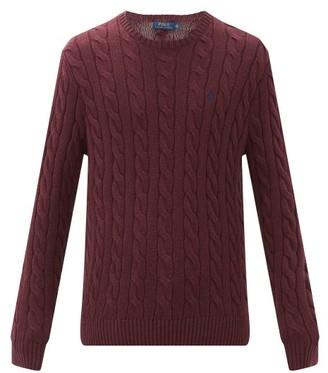 Polo Ralph Lauren Cable-knit Cotton Sweater - Burgundy