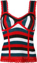 SteveJ & YoniP Steve J & Yoni P - knit stripe bustier - women - Cotton - M