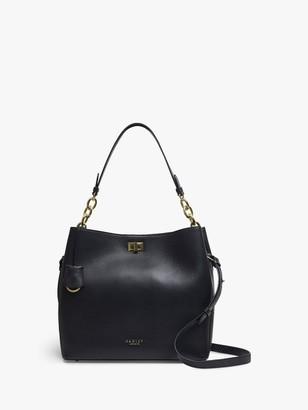 Radley Hope Street Leather Large Open Top Shoulder Bag, Black