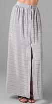 Porter Grey Button Down Long Skirt