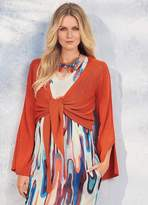 Kaleidoscope Wide Sleeve Wrap Cardigan