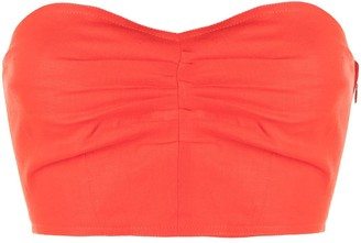 Mara Hoffman Thea cropped bustier top
