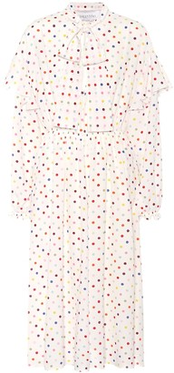 Valentino Polka-dot stretch-silk dress