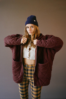 Urban Outfitters Freja Quilted Hooded Jacket