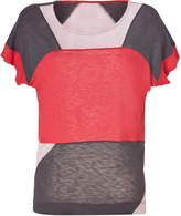 Marc by Marc Jacobs Antique Red/Pink/Grey Colorblock Tanyal T-Shirt