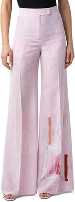 Akris Floretta Ohayo Print Wide Leg Pants