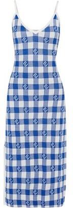 Baum und Pferdgarten Cathleen Metallic Gingham Jacquard-knit Midi Dress