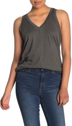 Caslon Double V Knit Tank Top (Regular & Petite)