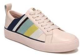 Diane von Furstenberg Tess Striped Leather Sneakers