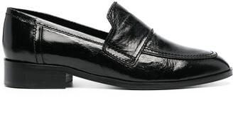 Tila March Hickory penny-slot loafers
